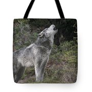 Gray Wolf Howling Endangered Species Wildlife Rescue Tote Bag