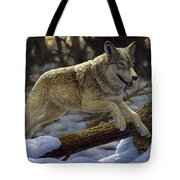 Gray Wolf - Just For Fun Tote Bag by Crista Forest