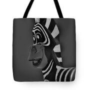 Gray Zebra Tote Bag