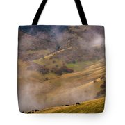 Grazing Above The Fog Tote Bag