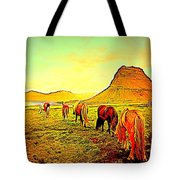 Happy To Be Grazing Again Tote Bag