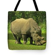Grazing Rhino Tote Bag