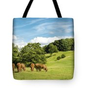 Grazing Summer Cows Tote Bag