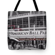 Great American Ball Park And The Cincinnati Reds Tote Bag