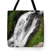 Great Angle Of Red Blanket Falls Tote Bag