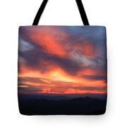 Great Balsam Mountains Sunset-blue Ridge Parkway Tote Bag