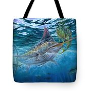 Great Blue And Mahi Mahi Underwater Tote Bag