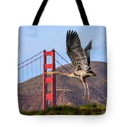 Great Blue At The Golden Gate Tote Bag