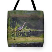 Great Blue Heron At Down East Maine Wetland Tote Bag