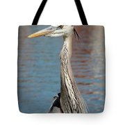 Great Blue Heron By The Water Tote Bag