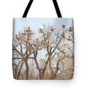 Great Blue Heron Colony Tote Bag