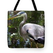 Great Blue Heron - Colorful Reflections Tote Bag