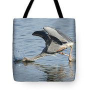 Great Blue Heron Fishing Tote Bag