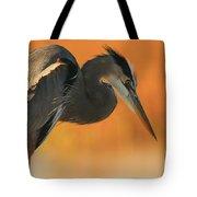 Great Blue Heron Focus Tote Bag