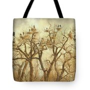 Great Blue Heron Hangout Fine Art Tote Bag