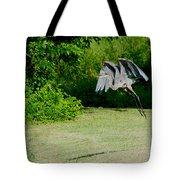 Great Blue Heron In Flight 6 Tote Bag