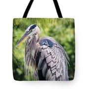 Great Blue Heron Iv Tote Bag