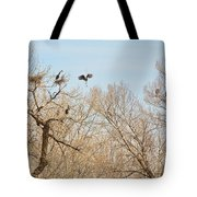 Great Blue Heron Nest Building 1 Tote Bag