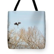 Great Blue Heron Nest Building 2 Panorama View Tote Bag