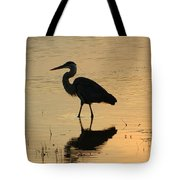 Great Blue Heron Reflected Tote Bag