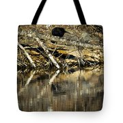 Great Blue Heron Reflection Tote Bag