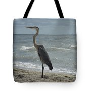 Great Blue Heron Standing Tall Tote Bag