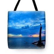 Great Blue Heron Sunrise Tote Bag