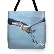 Great Blue Heron Take Off Tote Bag
