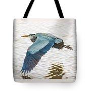 Great Blue Heron Taking Flight Tote Bag
