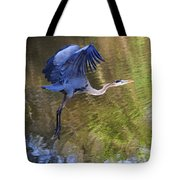 Great Blue Heron Taking Off Tote Bag