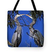 Great Blue Herons Tote Bag