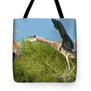 Great Blue Herons Tote Bag