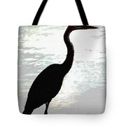 Great Blue Herons Nightside Tote Bag