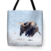 Great Blue Lift Off Series 2 Tote Bag
