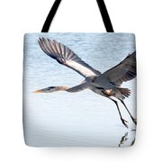 Great Blue Lift Off Series 3 Tote Bag