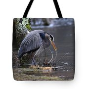Great Blue On The Clinch River II Tote Bag