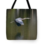 Great Blue Over Green Tote Bag