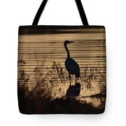 Great Blue Silhouette Tote Bag
