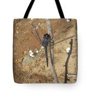 Slaty Skimmer Dragonfly Shadow Tote Bag