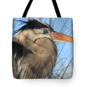 Great Blue Up Close Tote Bag