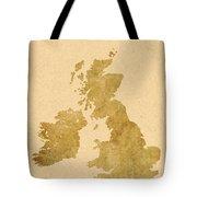 Great Britain Map Tote Bag
