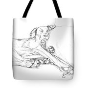 Great Dane Dog Sketch Bella Tote Bag