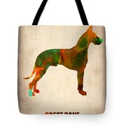 Great Dane Poster Tote Bag by Naxart Studio