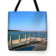 Great Day For Fishing In The Marsh Tote Bag