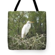Great Egret Lookout Tote Bag