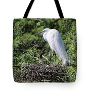 Great Egret Nest Tote Bag