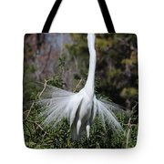 Great Egret Showoff Tote Bag