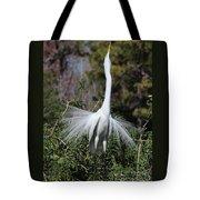Great Egret Showoff Tote Bag