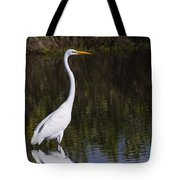 Great Egret Standing Out Tote Bag