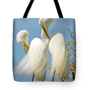 Great Egrets At Nest Tote Bag